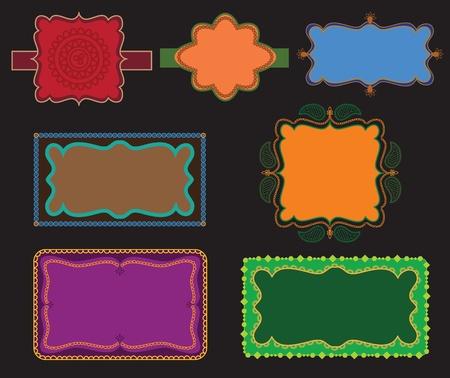 Henna Frames Vector