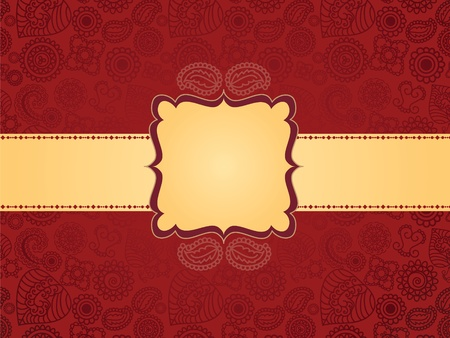 Antique Henna Banner Vector