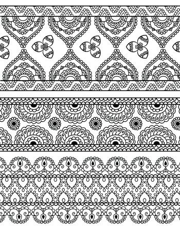 Henna BannersBorders Vector