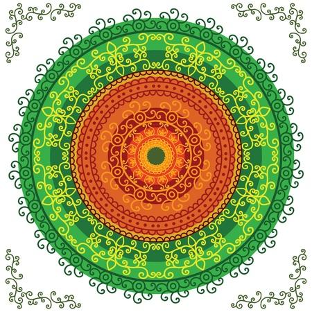Henna Mandala  Vector