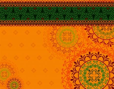 Henna Mandala Background Vector