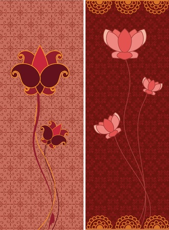 Lotus Banners Illustration