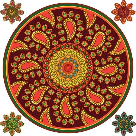 Henna Mandala Design Illustration