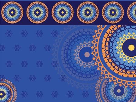 Henna Mandala Background Stock Vector - 11095143