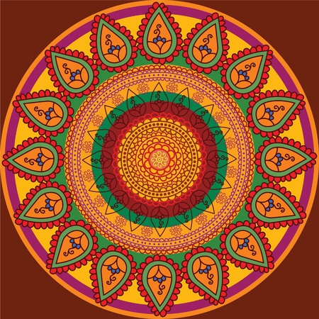 Henna Mandala Background Vector