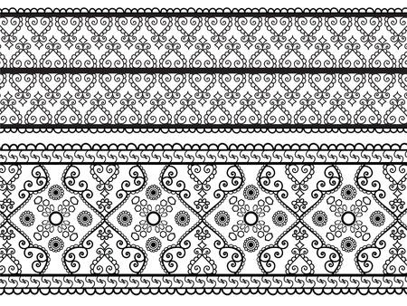 Henna Banners, zeer uitgebreide en gemakkelijk te bewerken zijn