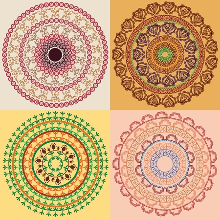 Colorful Henna Mandala, very elaborate and easily editable Stock Vector - 11674288