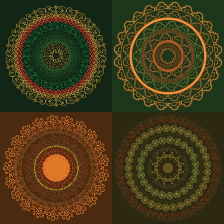 elaborate: Colorful Henna Mandala, very elaborate and easily editable