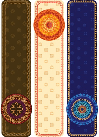Colorful Henna Mandala Banners, very elaborate and easily editable