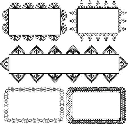 Henna Banner Design Vector