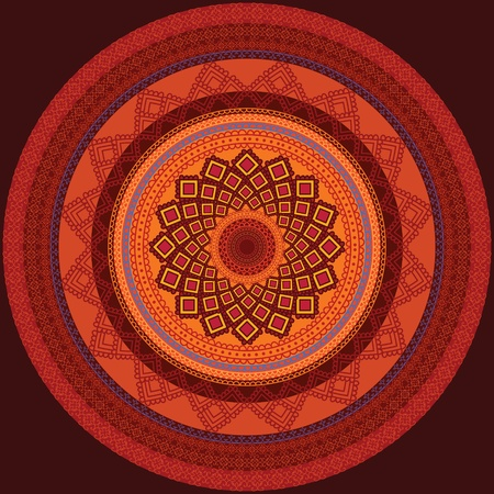 Colourful Henna Mandala Design Vector