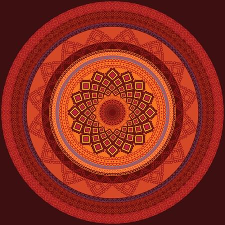 Colourful Henna Mandala Design Stock Vector - 12164673