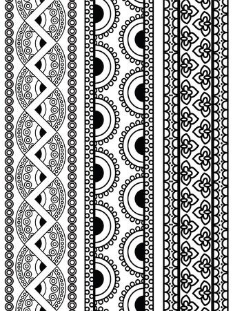 Henna Borders Vector