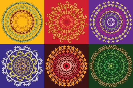 Colourful Henna Mandala Design Stock Vector - 12164633