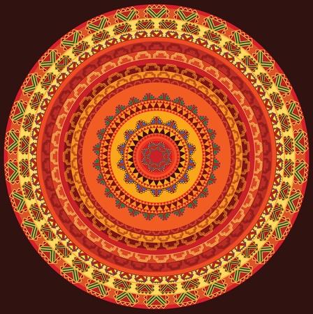 Colourful Henna Mandala Design Vector