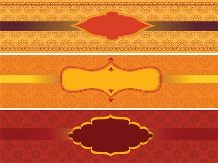 Colourful Henna Frames