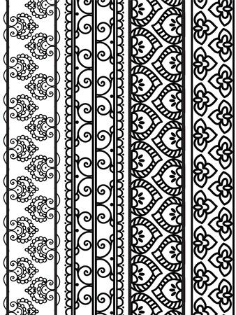 Henna Banners/Borders Stock Vector - 12164629