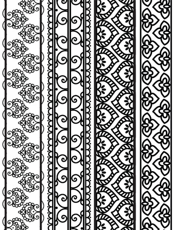 Henna Banners/Borders Stock Vector - 12164629