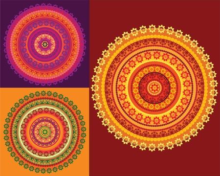 Colourful mandala background Vector