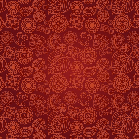 Seamless Henna background Vector
