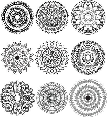 Henna Mandala Illustration