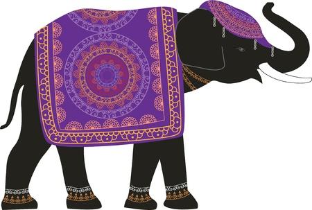 indian elephant: Decorado elefante indio