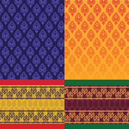 Indian Sari Design Vector