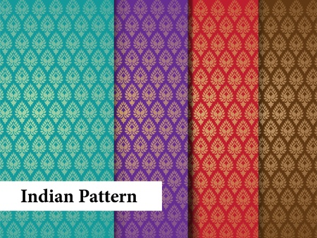 Seamless Indian Patterns Vector