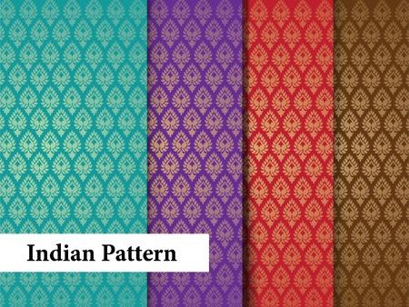 indianin: Seamless Patterns indyjskie