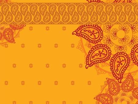 Paisley Mandala Background Stock Vector - 12711981