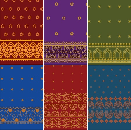 indian saree: Indian Sari   Saree design Illustration