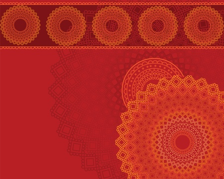 elaborate: Henna Mandala Background, Henna inspired Colourful Mandala - very elaborate and easily editable-