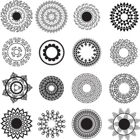 Henna Mandala Background - very elaborate and easily editable Vector