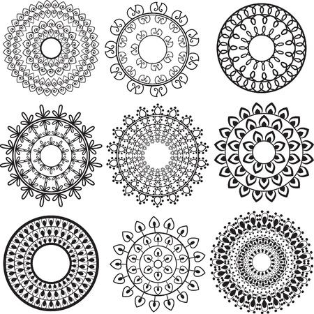 Henna Mandala Background - very elaborate and easily editable Stock Vector - 13198703