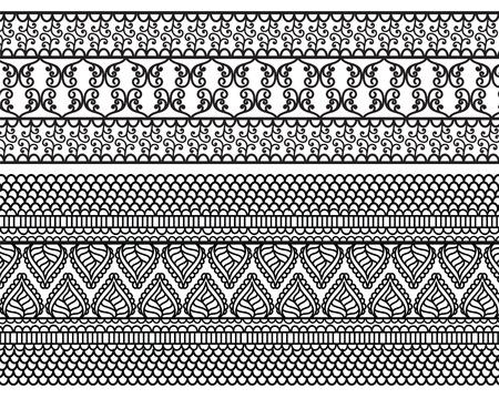 henna: Very detail Henna art Inspired Border designs