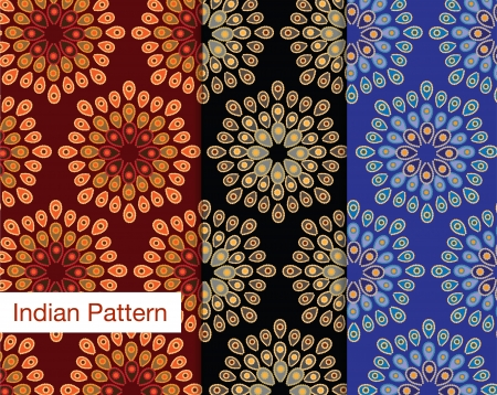 Detailed Seamless Indian pattern Vector