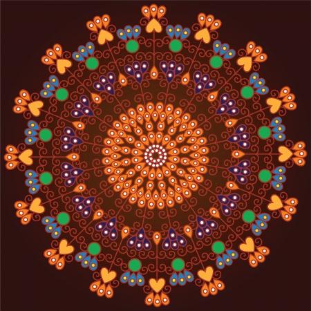 Colorful Indian Mandala design, very elaborate Stock Vector - 14571589
