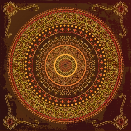 Colorful Indian Mandala design, very elaborate Vector