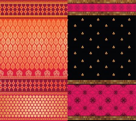 sari: India Sari Fronteras, detalladas y f�cilmente editables