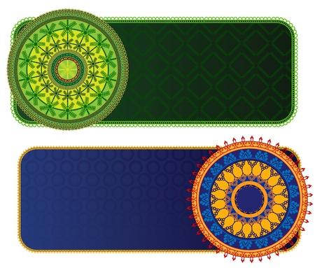Ethnic & Colorful Henna Mandala design, very elaborate and easily editable Vector