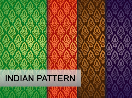 easily: Indian Pattern - Detailed and easily editable Illustration
