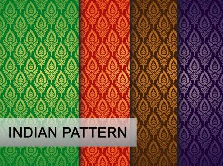 motif indiens: Mod?le indien - d?taill?e et facilement modifiable