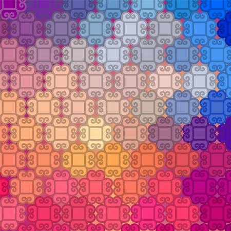 Kleurrijk Henna patroon design, zeer uitgebreide en gemakkelijk te bewerken Kan gebruikt worden als website achtergrond Etnische vector Mandala achtergrond uit India