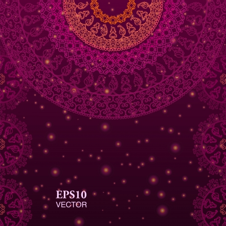 elaborate: Colorful Henna Mandala design, very elaborate and easily editable
