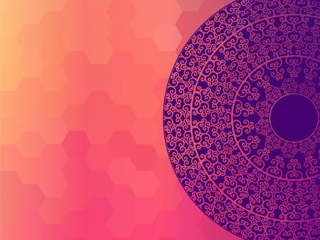 elaborate: Indian Henna Mandala Background Design EPS10, very elaborate and easily editable