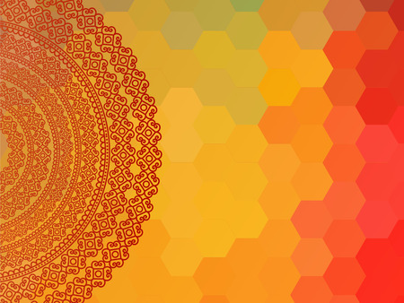 Indian Henna Mandala Background Design EPS10, very elaborate and easily editable Vector