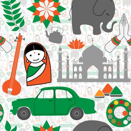 thali: Indian Seamless pattern design