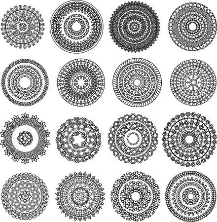 rangoli: Mini henna Mandala Illustration