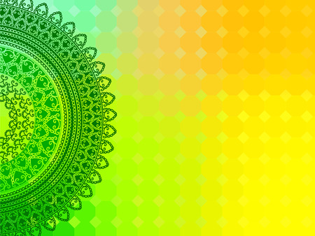 Ethnic & Colorful Henna Mandala design, very elaborate and easily editable Vector