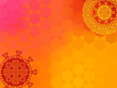 arabesco: Étnicas y Diseño colorido Henna Mandala, muy elaborado y fácilmente editable